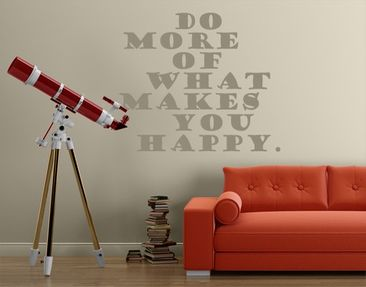 Product picture Wall Decal no.EV3 Do More Happy