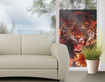 Produktfoto Window Mural Wild Tiger