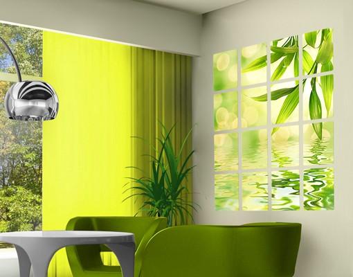 Produktfoto Selbstklebendes Wandbild Green Ambiance I 16-teilig