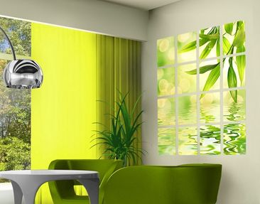 Product picture Wall Mural Green Ambiance I 16-parts