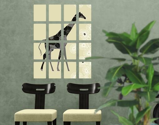 Produktfoto Selbstklebendes Wandbild Retro Giraffe 16-teilig