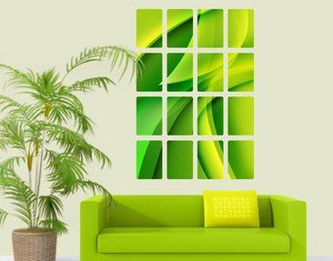 Produktfoto Wall Mural Green Composition 16-parts