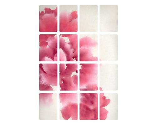 Produktfoto Selbstklebendes Wandbild Künstlerische Flora I 16-teilig