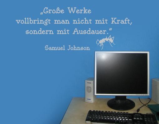 Produktfoto Wandtattoo Kinderzimmer Zitate - Wandzitate No.UL890 Große Werke