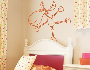 Product picture Wall Decal no.RY4 Dancing Moose