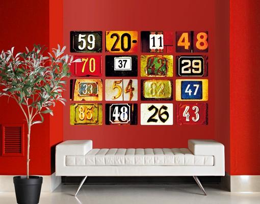 Produktfoto Selbstklebendes Wandbild Numbers 16-teilig