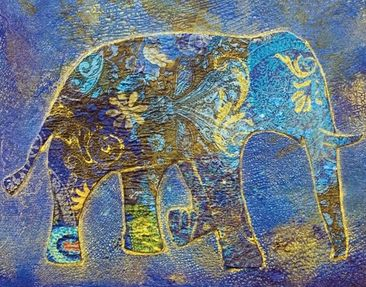 Product picture Wall Mural Elephant In Marrakech