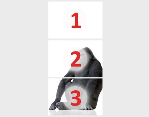 "Produktfoto Fototapete Tür - Papier No.42 ""GORILLA THOUGHT"" 100x210cm"