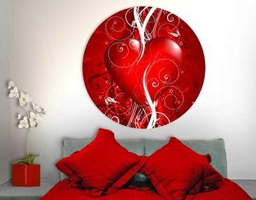 Produktfoto Leinwandbild Kreis Floral Heart