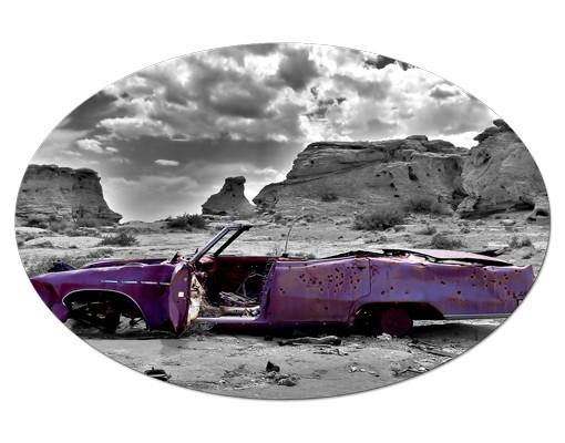 Produktfoto Leinwandbild Oval Pink Cadillac