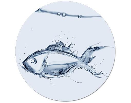 Produktfoto Leinwandbild Kreis Liquid Silver Fish