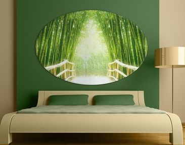 Product picture Canvas Art Oval Bamboo Way