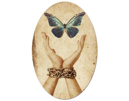 Produktfoto Leinwandbild Oval Flieg, Schmetterling!