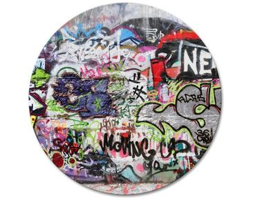 Product picture Canvas Art Circle Graffiti