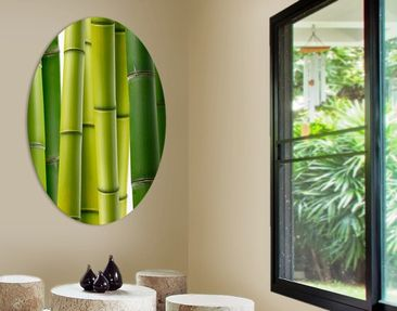 Product picture Canvas Art Oval Bamboo Plants