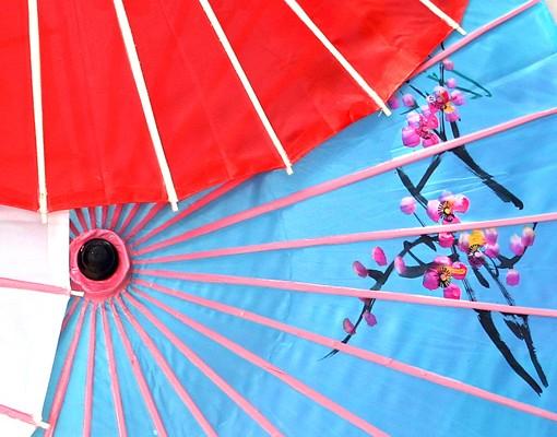 Produktfoto Leinwandbild Kreis Chinese Parasols