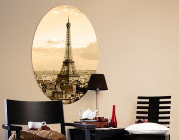 Immagine del prodotto Stampa su tela ovale I Love Paris