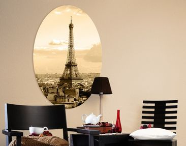 Produktfoto Leinwandbild Oval I love Paris