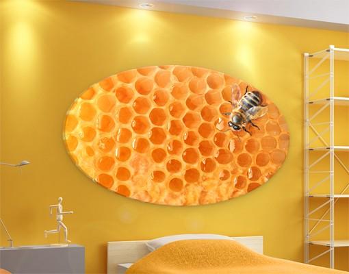 Produktfoto Leinwandbild Oval Honey Bee