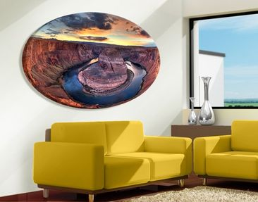 Produktfoto Canvas Art Oval Colorado River Glen...