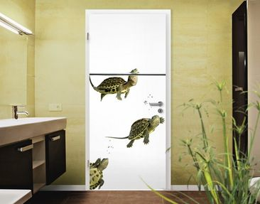 "Immagine del prodotto Carta da parati per porte no.40 ""DIVING TURTLES"" 100x210cm"