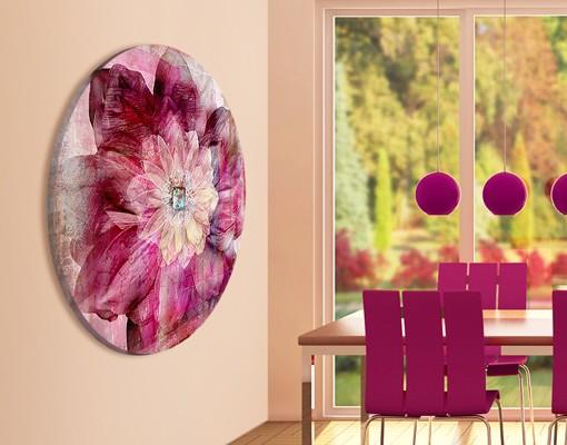 Produktfoto Leinwandbild Kreis Grunge Flower