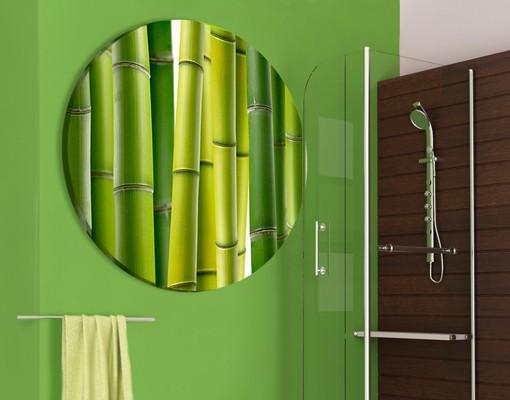 Produktfoto Leinwandbild Kreis Bambuspflanzen