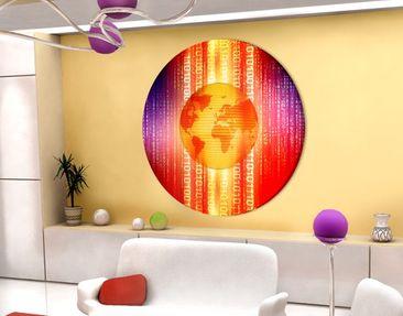 Immagine del prodotto Stampa su tela circolare Digital Planet