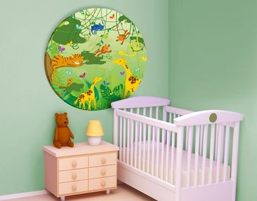 Product picture Canvas Art Circle no.IS87 Jungle...