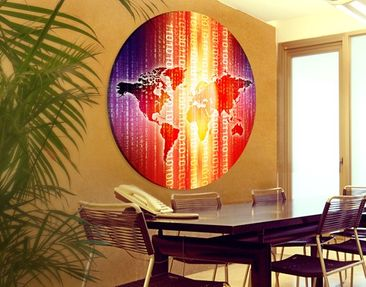 Product picture Canvas Art Circle Digital World