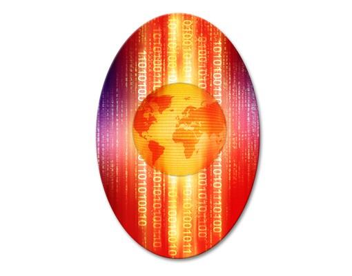 Produktfoto Leinwandbild Oval Digital Planet