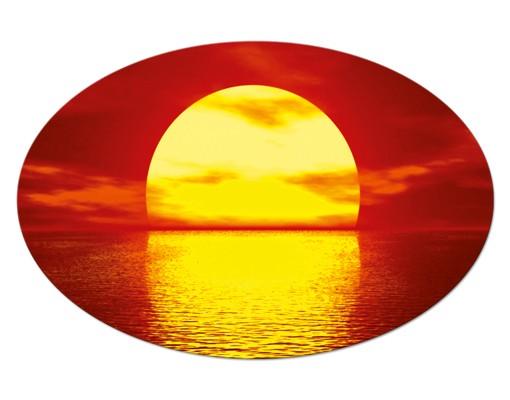 Produktfoto Leinwandbild Oval Fantastic Sunset