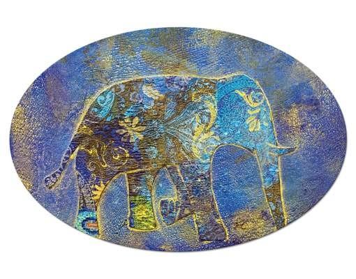 Produktfoto Leinwandbild Oval Elephant in Marrakech