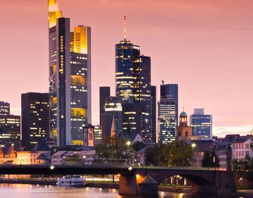 Produktfoto Leinwandbild Oval Frankfurt Skyline