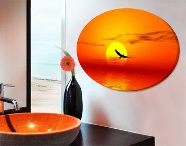 Produktfoto Leinwandbild Oval Fabulous Sunset