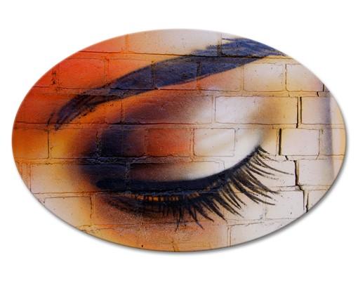 Produktfoto Leinwandbild Oval Latina Eye
