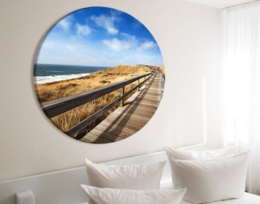 Product picture Canvas Art Circle North Sea Promenade
