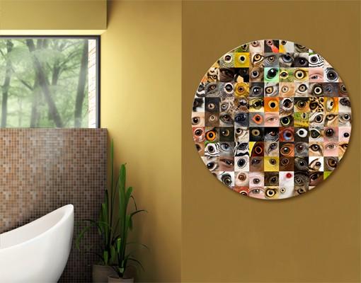 Produktfoto Leinwandbild Kreis Eyes of the World