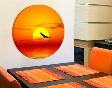 Produktfoto Canvas Art Circle Fabulous Sunset