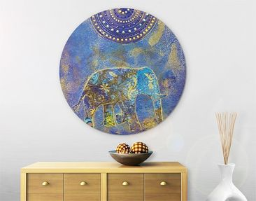 Product picture Canvas Art Circle Elephant in Marrakech