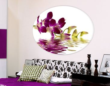 Produktfoto Canvas Art Oval Pink Orchid Waters