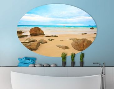 Produktfoto Canvas Art Oval The Beach