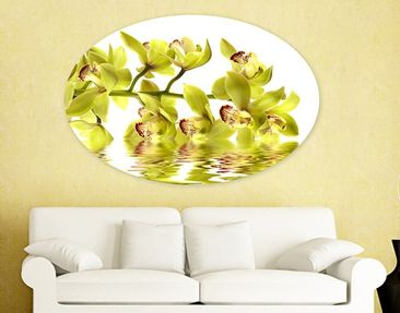 Produktfoto Canvas Art Oval Splendid Orchid Waters
