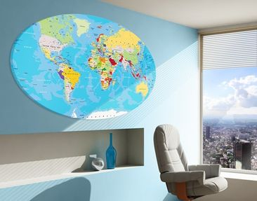 Product picture Canvas Art Oval The World's Countries