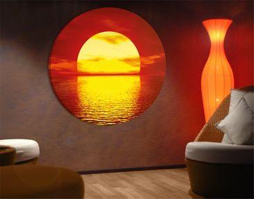 Produktfoto Canvas Art Circle Fantastic Sunset