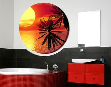 Product picture Canvas Art Circle Caribbean Sunset