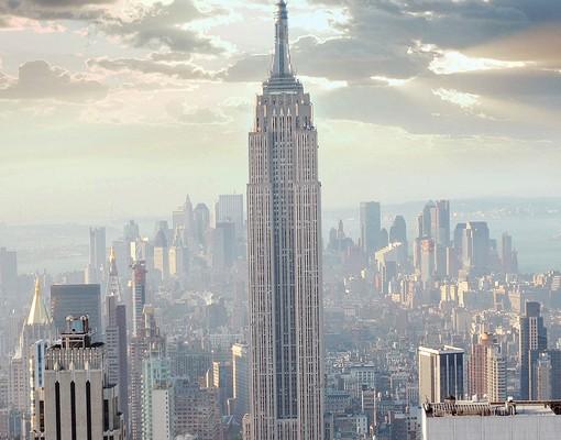 Produktfoto Leinwandbild Kreis Sonnenaufgang in New York