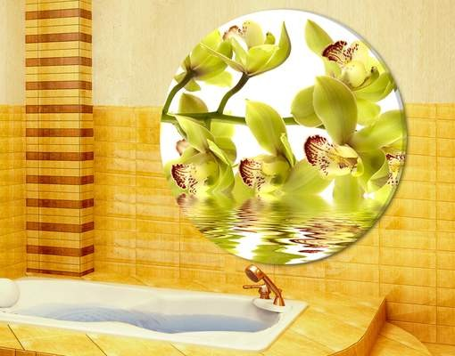 Produktfoto Leinwandbild Kreis Splendid Orchid Waters