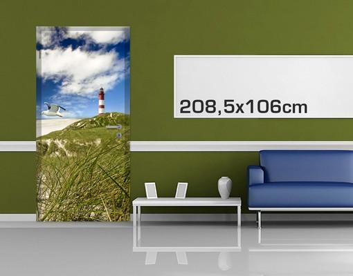 Produktfoto Türtapete Leuchtturm - Dune Breeze - selbstklebend