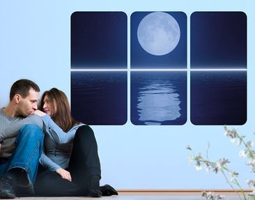 Produktfoto Wall Mural Silver Moon Rise Triptych I